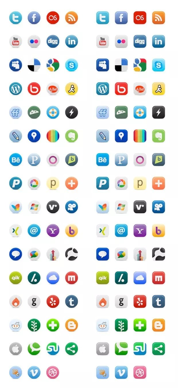 niceweb large vectorgab - 2 Different Style of Social Media Free Buddy Icons