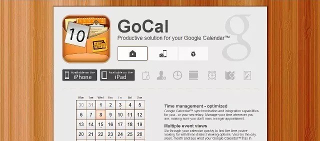 GoCal - 7 apps to help you get through your busy day.