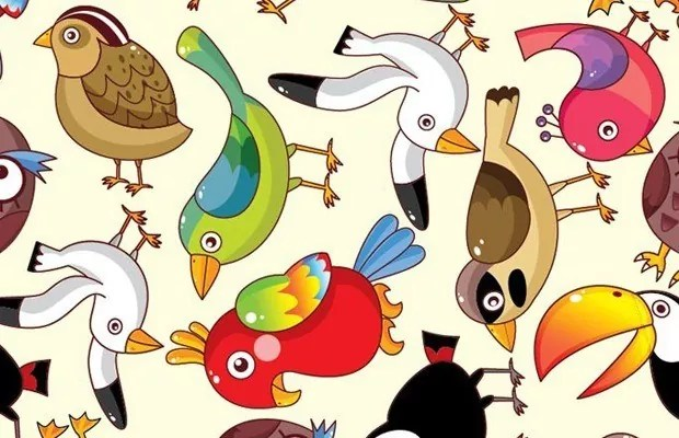 funnybirrd large vectorgab - Lovely Funny Birds Vector
