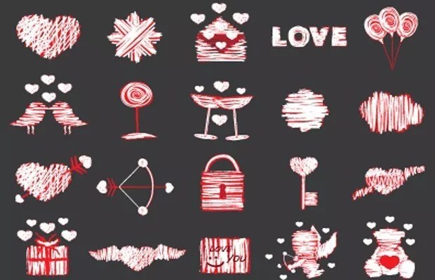 love large vectorgab - Free Love Vector Elements Pack