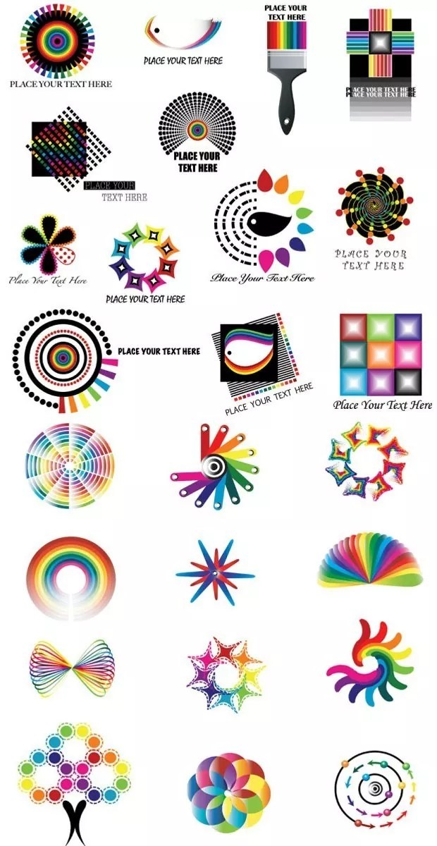 dynamic large vectorgab - Dynamic color logo pattern vector