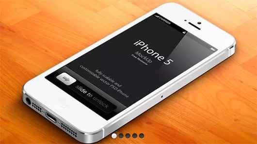 173 - 30 FREE Superb iPhone5 PSD Templates