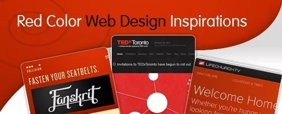 Red Color Web Design Inspirations - Color Inspirations: Red Web Designs