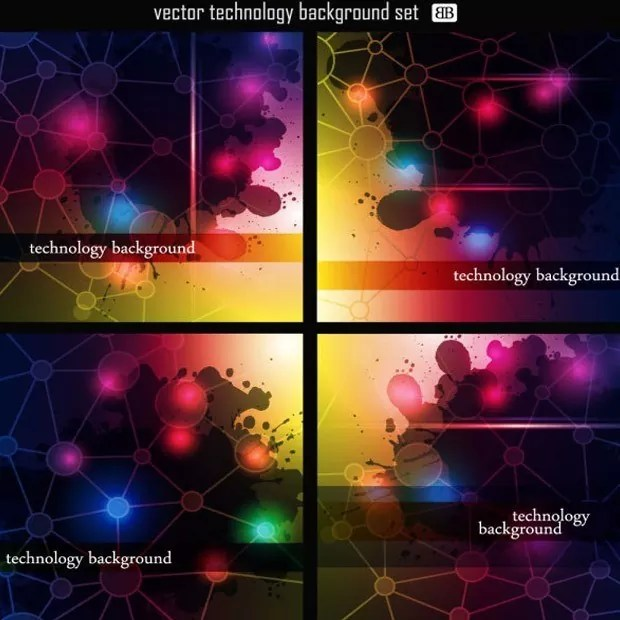 tech large vectorgab - Free Vector Technology Abstract Background Free Download