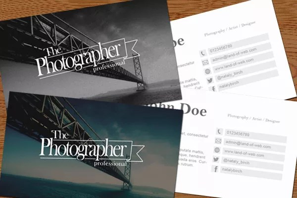 preview - FREE Photographic Business Card PSD Template