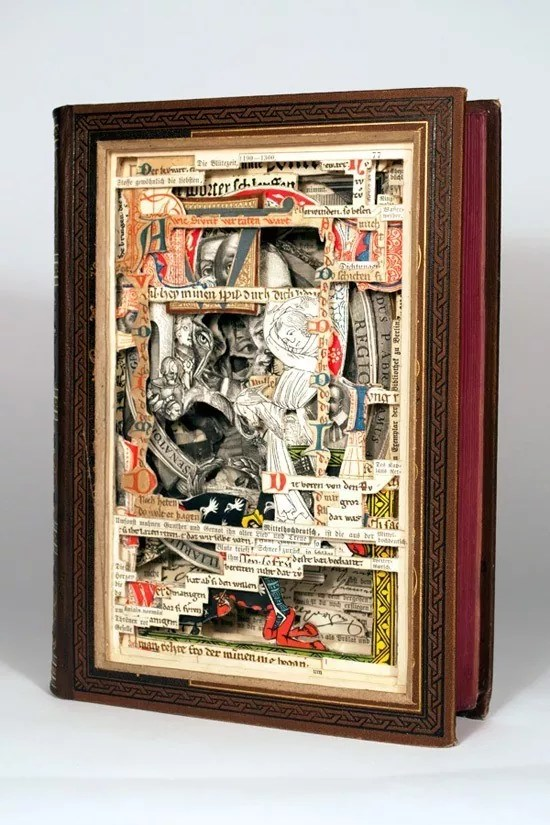 Book art sculpting 1 - Fascinating Book Sculptures By Various Artists