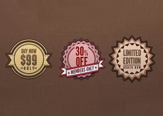 Psd Retro Badges - 40+ Retro web Design PSD's and web elements