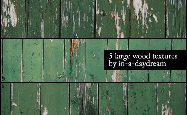 5 Green Grunge Wood Textures