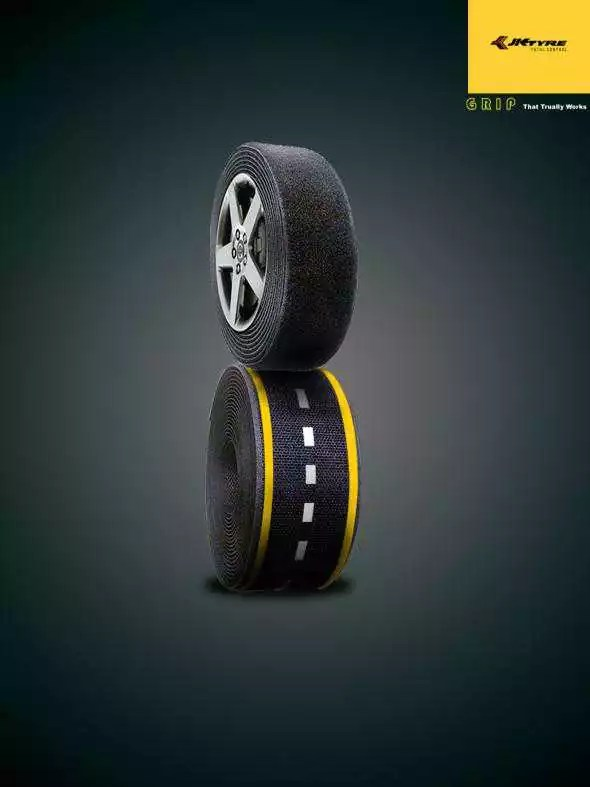 jk tyre - 10 Creative Photo Manipulations Ads