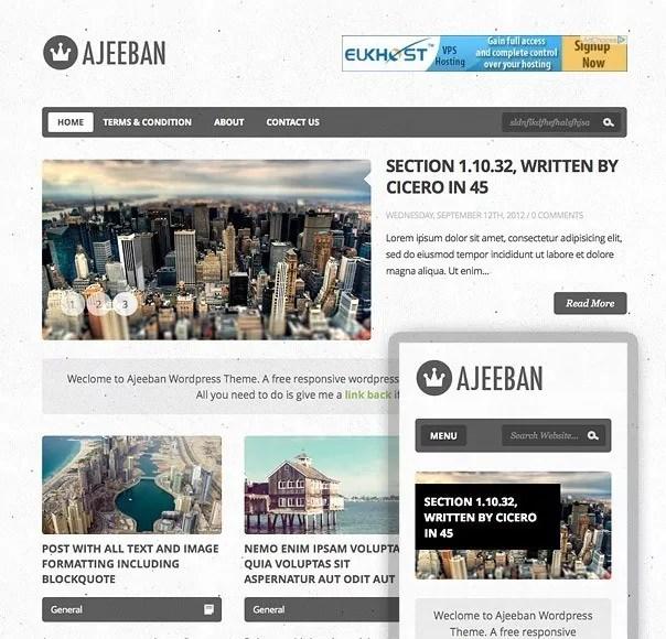 promo - Ajeeban Free WordPress Theme