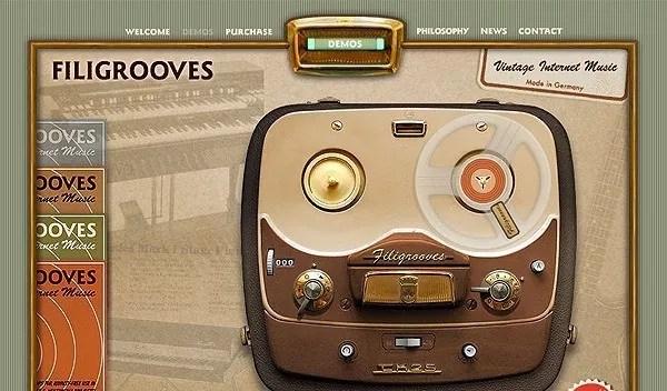 retro designs5 - Best Showcase of Retro and Vintage Web Design