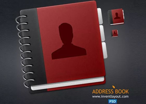 Address Book - Fresh and Free High Quality Icons in PSD Format