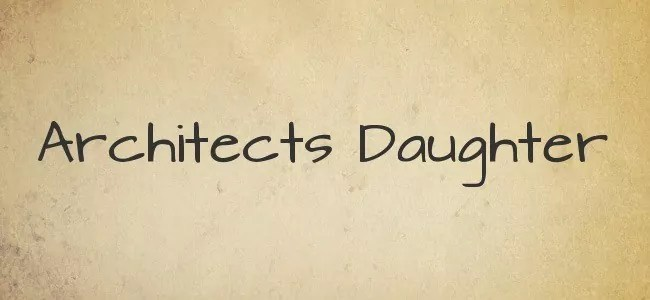 Architects Daughter - Free Handwritten Fonts