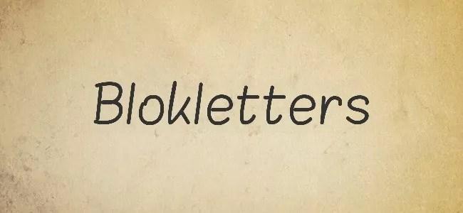 Blokletters - Free Handwritten Fonts