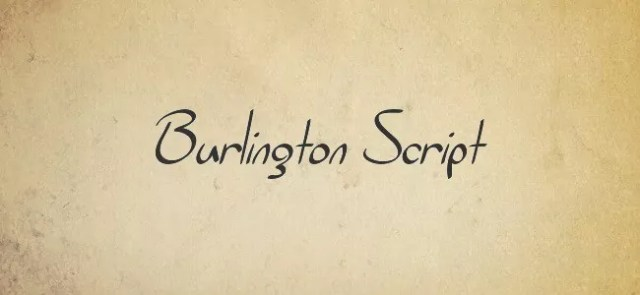 Burlington Script - Free Handwritten Fonts