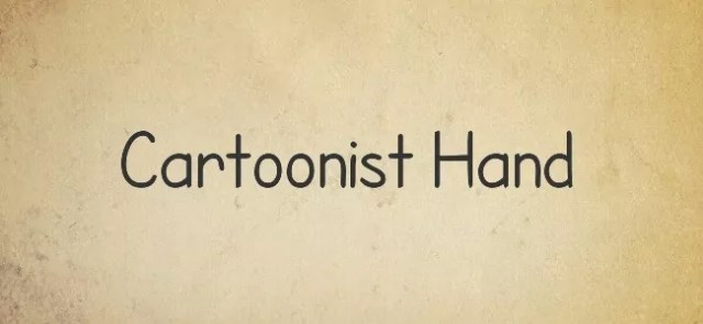 Cartoonist Hand - Free Handwritten Fonts