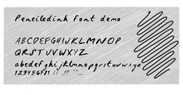 Penciledinh font demo by Ke  e1363864968573 - Free Handwritten Fonts