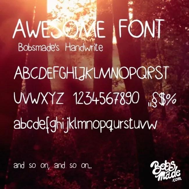 bobsmade handwrite font by bobsmade d5tr0b6 e1363864258783 - Free Handwritten Fonts
