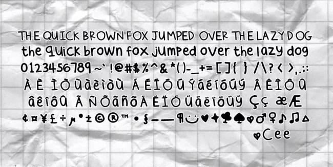cee  s hand by sunshowerdroplets d37enfo e1363865299347 - Free Handwritten Fonts