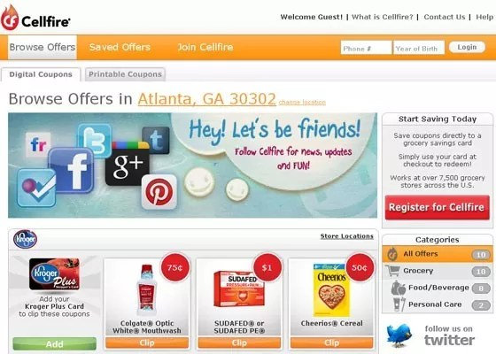 cellfire - Coupon Sites for the Best Shopping Deals and Bargains