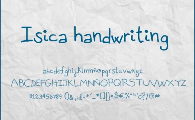 isica handwriting font by stardixa resources d3kzukx - Free Handwritten Fonts
