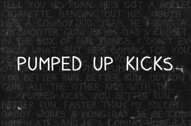 pumped up kicks font by residentbadgirl d4j0jmo - Free Handwritten Fonts