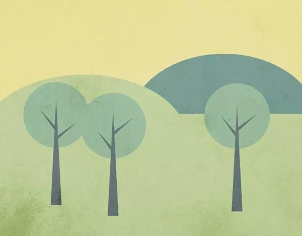 vector landscape sm - How To Create a Simple Landscape Scene in Illustrator