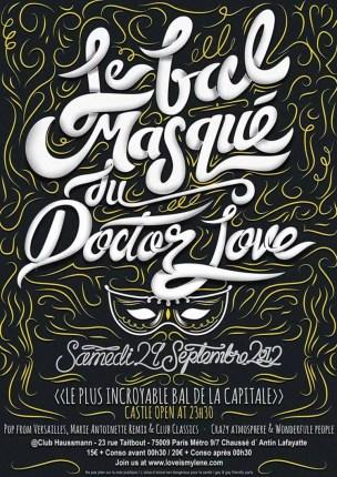 le bal masque - Creative Typography from Alan Guzman