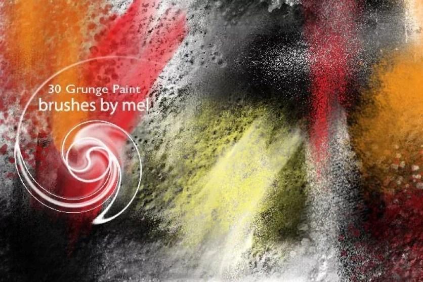 Grunge Paint brushes by melemel - 30+ Sets of Free Photoshop Paint Brushes