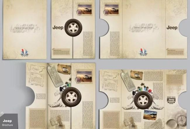 Jeep Brochure design - 25 Creative Brochure Designs For Inspiration