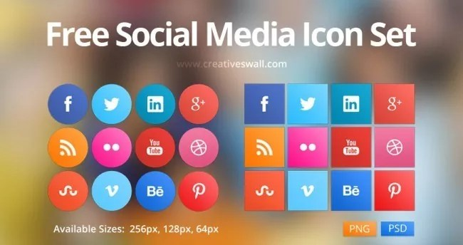 social icons set1 e1403175876308 - Free Social Media Icon Set