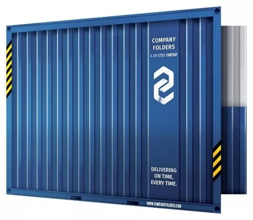 shipping container presentation folder template front open - Top 21 presentation folder templates