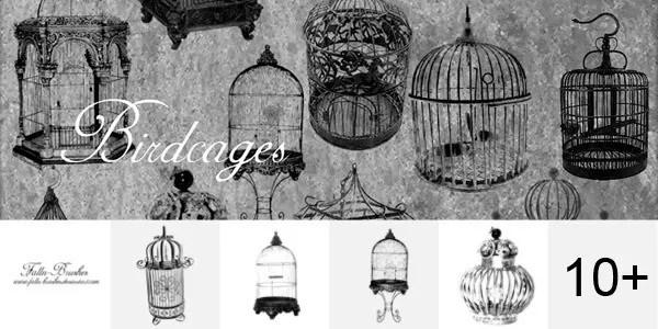 birdcages photoshop brushes vintage - 69 Enchantingly Elegant Photoshop Brushes