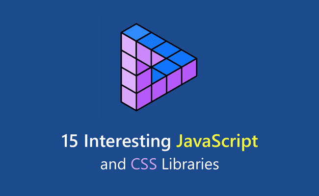 15 Interesting JavaScript and CSS Libraries - 15 Interesting JavaScript and CSS Libraries for October 2017