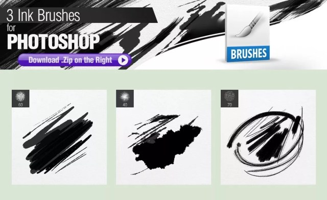 3 ink brushes for photoshop by pixelstains d8l9j23 1024x626 - Free Ink and Watercolor Brush Sets for Photoshop
