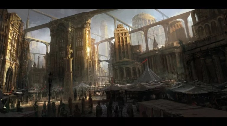 bridges concept art andree wallin - Concept Art and Matte Paintings from Andree Wallin