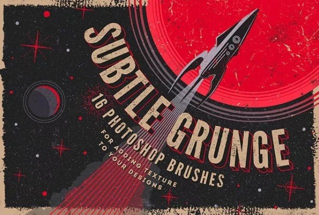 freebie slide 1510563762 1 - 16 Subtle Grunge Photoshop Brushes Collection