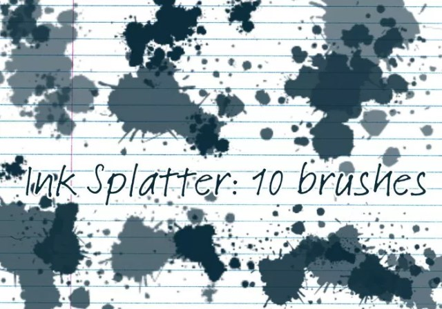 ink splatter brushes - Free Ink and Watercolor Brush Sets for Photoshop