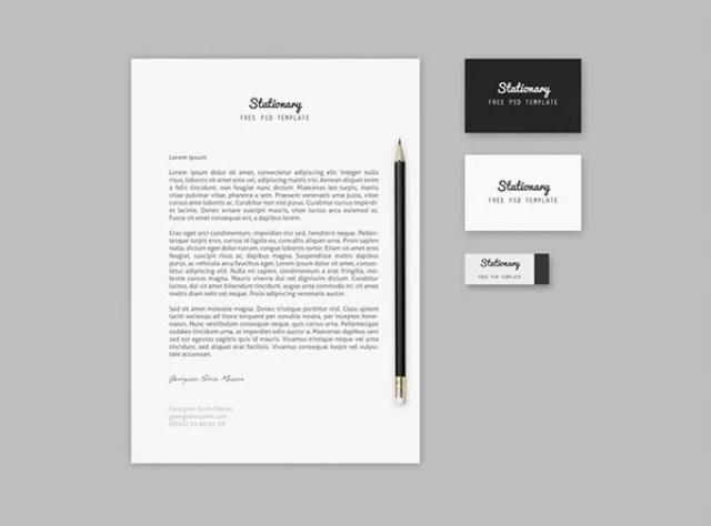 Branding Stationary Mock up Template Free PSD - 60+ Branding, Identity & Stationery Free PSD Mockups