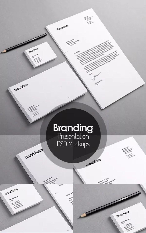 BrandingIdentityMockUp - 60+ Branding, Identity & Stationery Free PSD Mockups