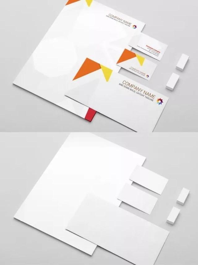 Free Stationery Presentation Mockup - 60+ Branding, Identity & Stationery Free PSD Mockups