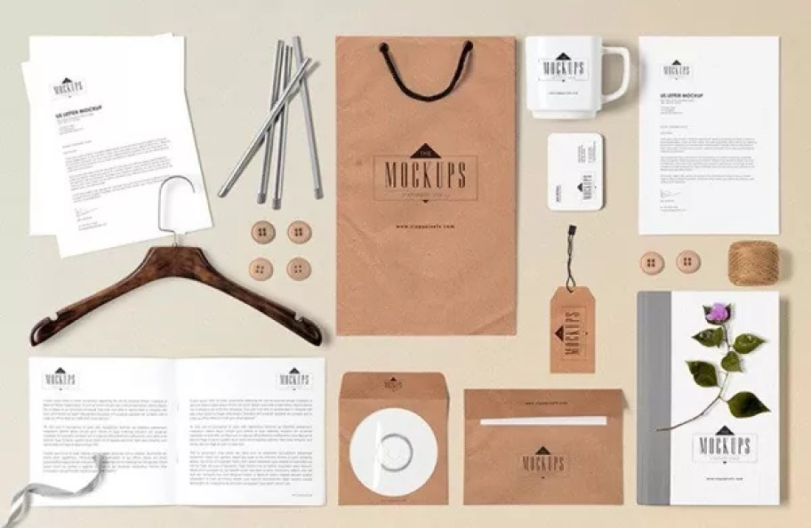Free Classic Stationery Mock up Scene Builder - 60+ Branding, Identity & Stationery Free PSD Mockups