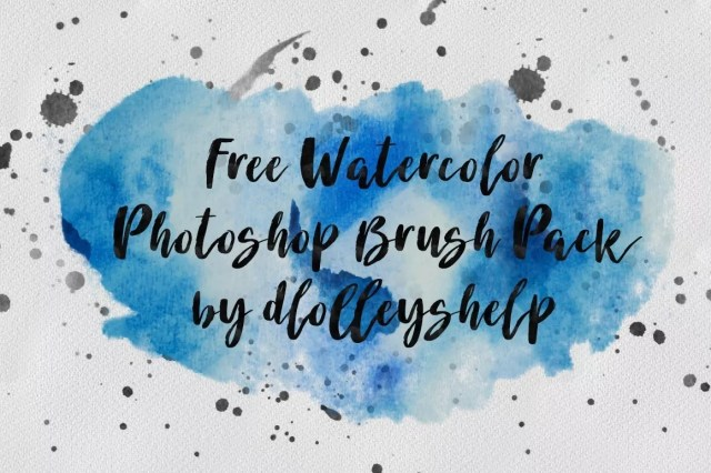 Free Watercolor Photoshop Brushes - Free Ink and Watercolor Brush Sets for Photoshop