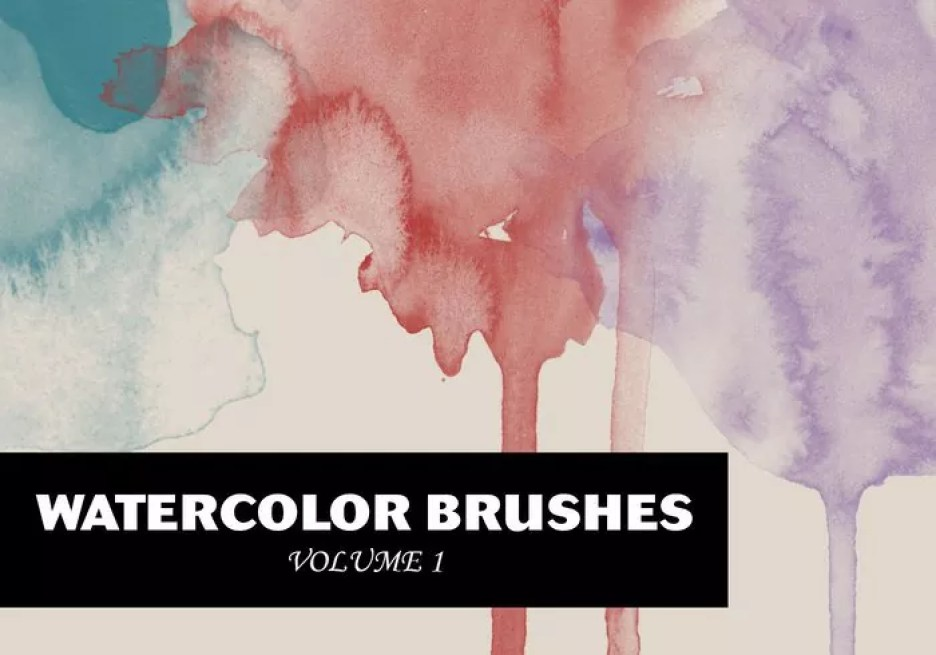 WG Watercolor Brushes Vol1 - Free Ink and Watercolor Brushes for Photoshop