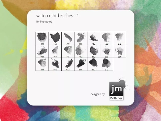 Watercolor Brushes 1 - Free Ink and Watercolor Brush Sets for Photoshop