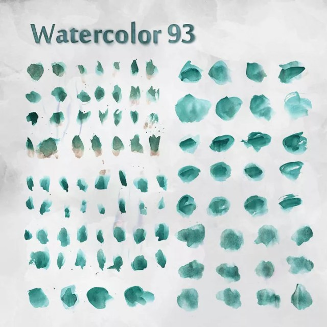 watercolor free bushes - Free Ink and Watercolor Brushes for Photoshop