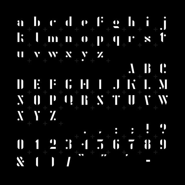 Agent Font Characters
