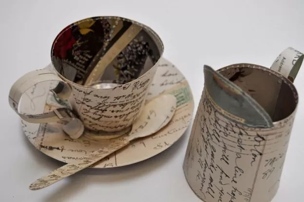 postcard cup jug 624x414 - Collection Of Paper Objects For Inspiration