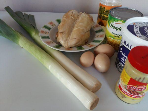 ingrediente salata pui praz