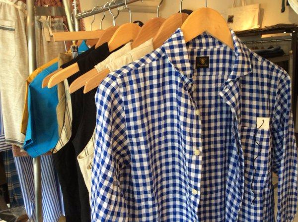 flyfront ginghamcheck linen shirt DjangoAtour